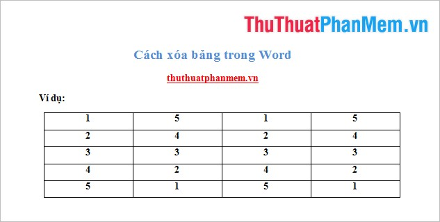 Bảng trong Word