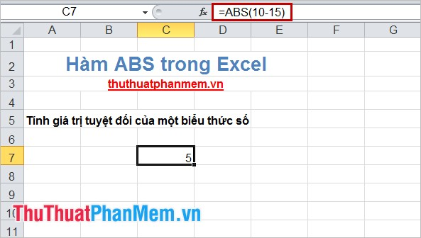 Hàm ABS trong Excel 3