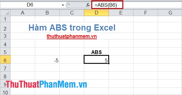 Hàm ABS trong Excel 4