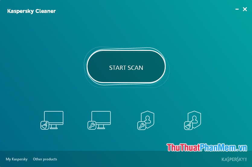 giao diện của Kaspersky Cleaner